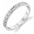 Platinum 2.5mm Flower Wedding Band Ring for Women
