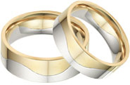 Two-Halves One Flesh Wedding Band Set
