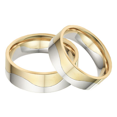 two halves one flesh wedding band ring set