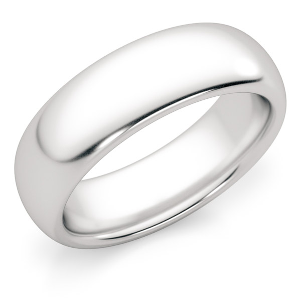 comfort fit wedding band white gold