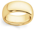 Comfort-Fit 8mm Plain 14K Gold Wedding Band Ring