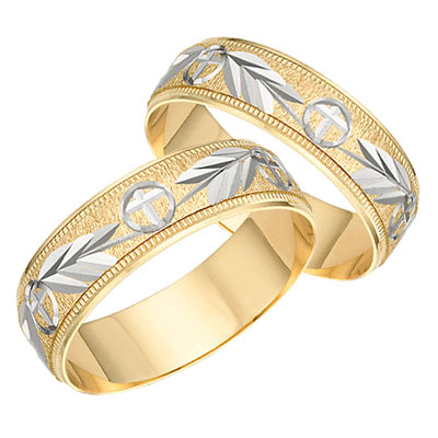 Hosanna Cross Wedding Band Set