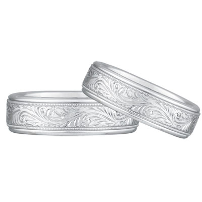 White Gold Wedding Band Ring Sets