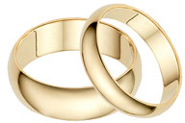 His and Hers 14K Yellow Gold Wedding Band Set