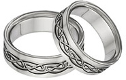 Titanium Celtic Wedding Band Set