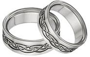 Titanium Celtic Wedding Band Set