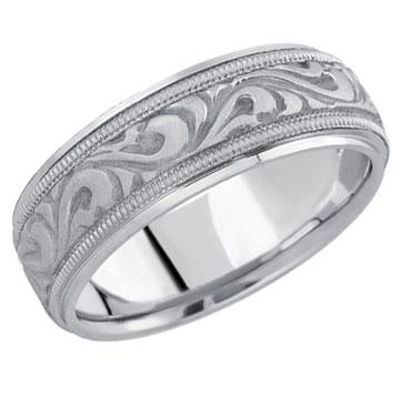 argentium silver wedding band