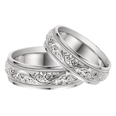 bands rings mens palladium etched wedding and artcarved c gold