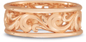 Paisley Carved Wedding Band in 14K Rose Gold