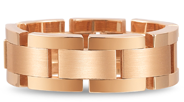 Flexible Designer Wedding Band in 18K Rose Gold (Wedding Rings, Apples of Gold)