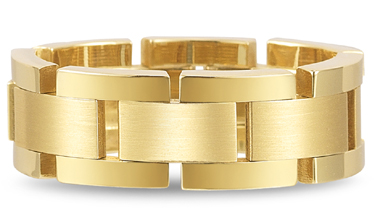 Flexible Designer Wedding Band in 14K Yellow Gold