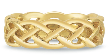 Celtic Mesh Wedding Band in 18K Gold