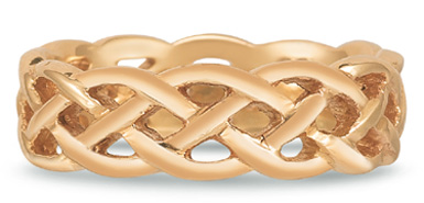 Buy Braided Mesh Celtic Wedding Band in 14K Rose Gold