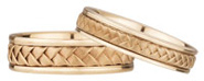 Braided Wedding Band Set in 14K Rose Gold