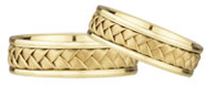 Pure Braided Wedding Band Set in 14K Yellow Gold