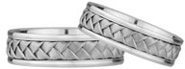 Pure Braided Wedding Band Set in 14K White Gold