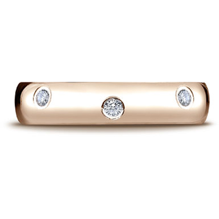 0.32 Carat 14K Rose Gold 8-Stone Diamond Eternity Ring