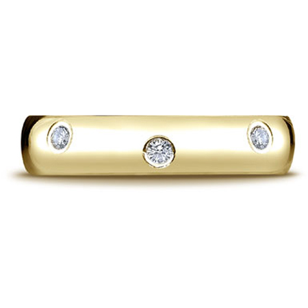 1/3 Carat 8-Stone Diamond Eternity Wedding Band Ring, 14K Yellow Gold