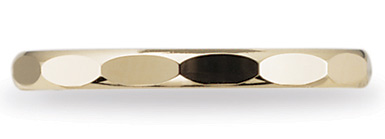 Benchmark Designer Elliptical 2mm Wedding Band, 14K Yellow Gold