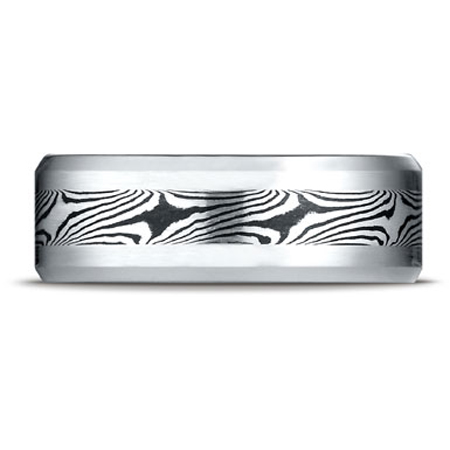 Mokume Design Cobalt Wedding Band Ring