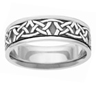 Traditional Sterling Silver Celtic Wedding Band Ring