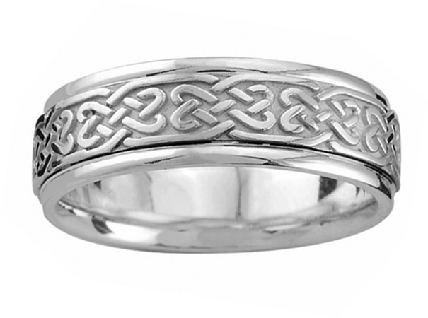 Celtic heart weave wedding band