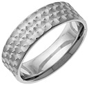 Celtic Spirals Wedding Band, 14K White Gold