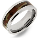 Desert Camo Tungsten Wedding Band Ring for Men