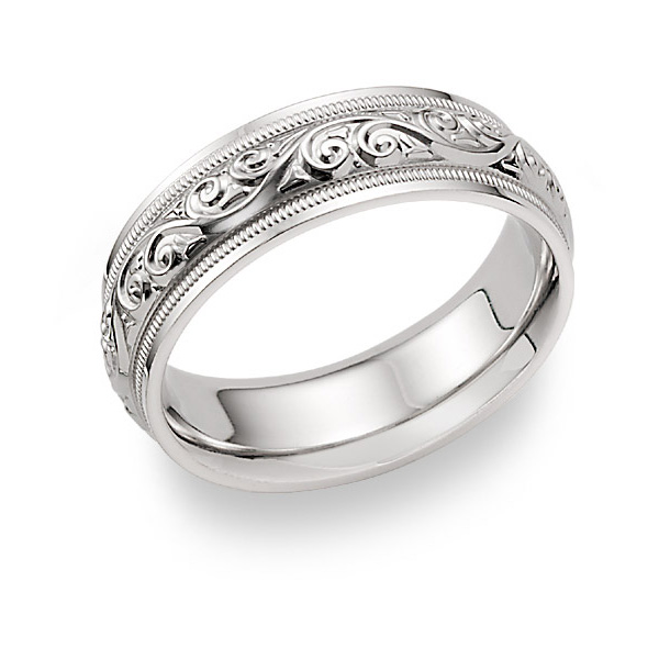 sj bands platinum wedding pto etched engraved rings products name grande jewelove