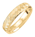 Gold Engraved Weave Design Wedding Band Ring