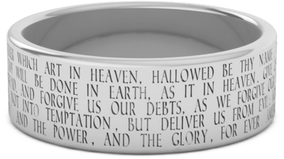 Sterling Silver Lord's Prayer Ring