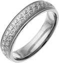 Hand-Etched Silver Spiral Wedding Ring