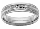 Handcrafted Platinum Swiss-Cut Wedding Band Ring