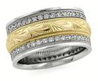Handmade Diamond Paisley Wedding Band Ring
