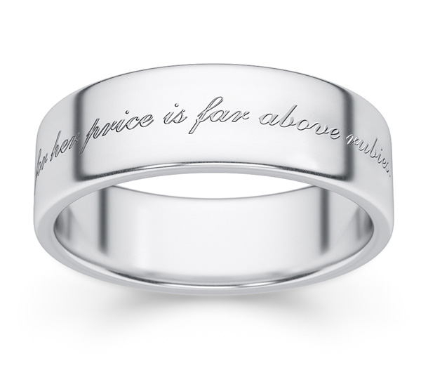 Bible Verse Wedding Rings for Christian Men and Women