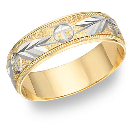 Hosanna Cross Wedding Band Ring