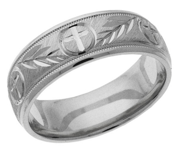 Cross Wedding Bands for The Christian Man