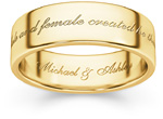 Male and Female Created He Them Wedding Ring