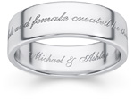 Male and Female Created He Them Wedding Band Ring
