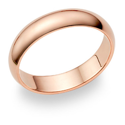 14K Rose Gold Wedding Band Ring (5mm)