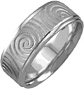 Platinum Celtic Spiral Wedding Band Ring