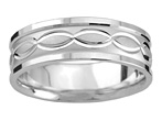 Swiss-Cut Infinity Wedding Band in White Gold