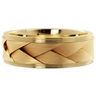 Two As One 14K Gold Braided Wedding Band Ring