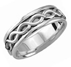 Platinum Infinity Symbol Wedding Band Ring