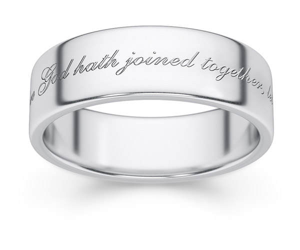 What God Hath Joined Together Wedding Band Ring