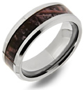 Woodlands Camo Tungsten Wedding Band Ring