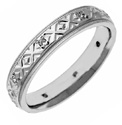 Sterling Silver XXO Diamond Wedding Band Ring