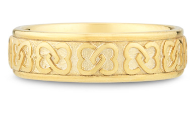 14K Yellow Gold Celtic Wedding Band (Wedding Rings, Apples of Gold)