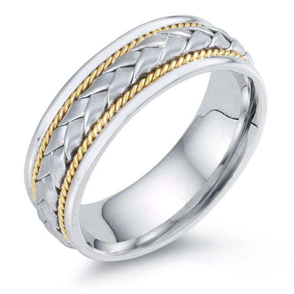 Designer Braided Wedding Band, 14K Two-Tone Gold (Wedding Rings, Apples of Gold)