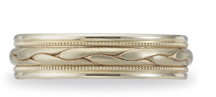 Benchmark Braided Wedding Band, 6mm, 14K Yellow Gold (Apples of Gold)